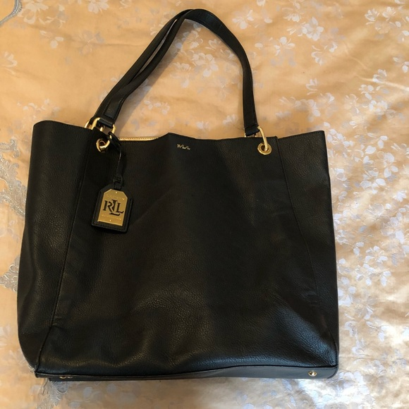 42553e71a068 Lauren Ralph Lauren Handbags - Lauren Ralph Lauren pebble leather tote